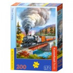 Castorland-222070 Train Crossing