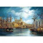 Castorland-300167 Le lever du jour sur le port