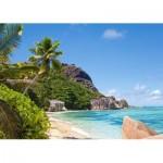 Castorland-300228 Plage Tropicale, Seychelles