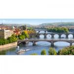 Castorland-400096 République Tchèque, Prague : Pont Vltava
