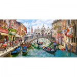 Castorland-400287 Charms of Venise