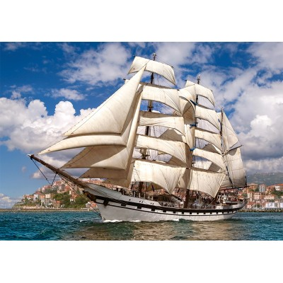 Castorland-52851 Tall Ship Leaving Harbour