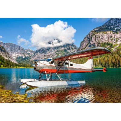 Castorland-53025 Floatplane on Mountain Lake