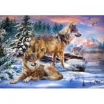 Castorland-53049 Wolfish Wonderland