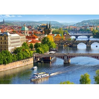 Castorland-53087 View of Bridges in Prague