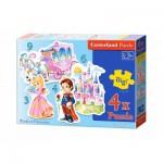 Castorland-B-005031 4 Puzzles - Pièces Maxi - Le Monde des Princesses