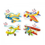 Castorland-B-04447 4 Puzzles - Avions