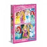 Clementoni-07031 2 Puzzles - Disney Princess