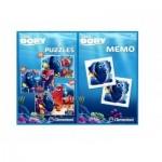 Clementoni-07811 3 Puzzles + Memo - Nemo