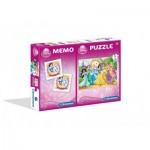 Clementoni-07906 Disney Princess + Memo