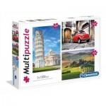 Clementoni-08011 3 Puzzles - Italie