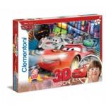 Clementoni-20044 Effet 3D - Cars 2 : Internationale Porto Corsa