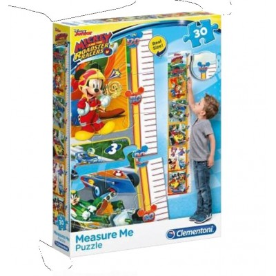 Clementoni-20321 Puzzle Measure Me - Mickey