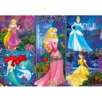 Clementoni-20609 Effet 3D - Disney Princess