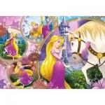 Clementoni-23702 Puzzle Géant de Sol - Disney Princess