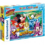 Clementoni-23715 Pièces XXL - Mickey and the Roadster Racers