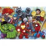 Clementoni-24769 Marvel Superhero - 2x20 + 2x60 Pièces