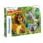Clementoni-25207 3 Puzzles - Madagascar