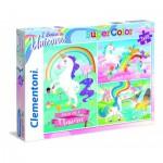 Clementoni-25231 3 Puzzles -I Believe in Unicorns