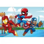 Clementoni-25257 Marvel Super Hero - 3x48