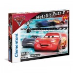 Clementoni-27074 Metallic Puzzle - Cars 3
