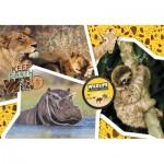 Clementoni-27143 National Geo - Wildlife Adventure-Supercolor Puzzle