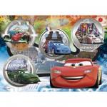 Clementoni-27857 Puzzle 104 pièces : Cars Tous en piste