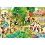 Clementoni-28505 Pièces XXL - Zoo