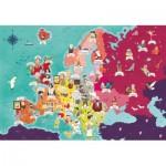 Clementoni-29061 Exploring Maps : Europe - Monuments + Personnes