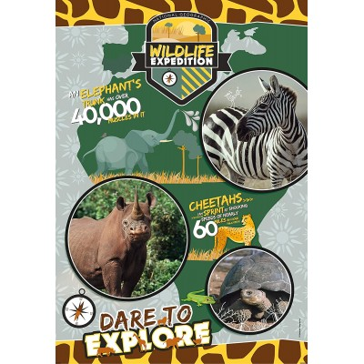 Clementoni-29207 National Geo Kids - Wildlife Expedition