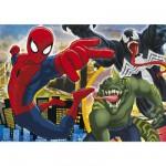 Clementoni-29681 Puzzle 250 pièces : Ultimate Spiderman Que le combat commence !