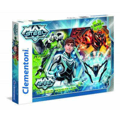 Clementoni-30442 Turbo Team-up Max Steel