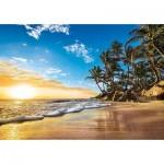 Clementoni-31681 Soleil Couchant sur une Plage des Tropiques