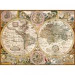 Clementoni-33531 Vieille carte du monde