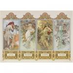 Clementoni-39177 Mucha : Les 4 saisons