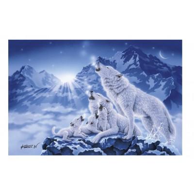 Clementoni-39280 Famille de Loups