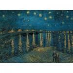 Clementoni-39344 Van Gogh Vincent : Nuit étoilée sur le Rhône