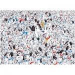 Clementoni-39358 Puzzle Impossible - Les 101 Dalmatiens