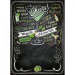 Clementoni-39467 Puzzle Tableau Noir - Cheers