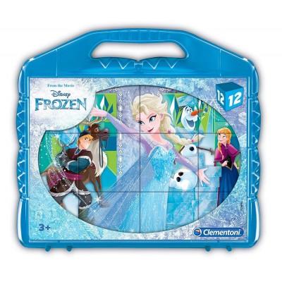 Clementoni-41186 Puzzle Cubes - La Reine des Neiges
