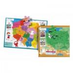 Clementoni-50021 Carte de la Pologne