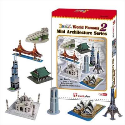 Cubic-Fun-C058H Puzzle 3D - Série mini Architectures : Monuments du monde (Difficulté : 4/8)