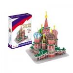 Cubic-Fun-C239h Puzzle 3D - Cathédrale Saint-Basile-le-Bienheureux de Moscou - Difficulté: 4/8