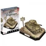 Cubic-Fun-JS4204h Puzzle 3D - U.S. M4A4 Sherman - Difficulté: 5/8
