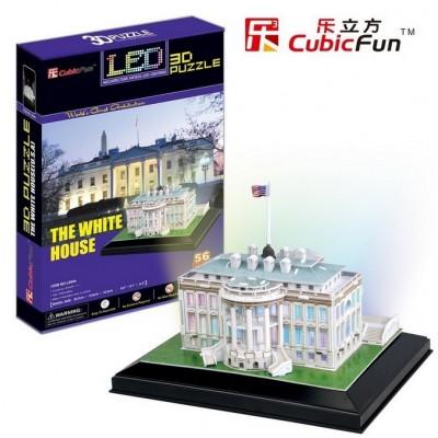 Cubic-Fun-L504H Puzzle 3D avec LED - Washington : La Maison Blanche