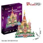 Cubic-Fun-L519h Puzzle 3D avec LED - Cathédrale Saint-Basile, Moscou - Difficulté 6/8