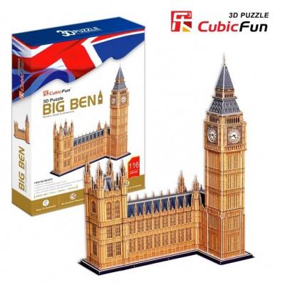 Cubic-Fun-MC087H Puzzle 3D - Londres : Big Ben (Difficulté : 7/8)