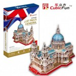Cubic-Fun-MC117H Puzzle 3D - Royaume Uni : Cathédrale Saint-Paul de Londres (Difficulté : 6/8)