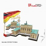 Cubic-Fun-MC207h Puzzle 3D - Porte de Brandebourg, Berlin (Difficulté: 5/8)