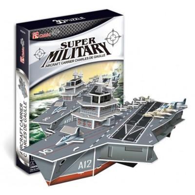 Cubic-Fun-P631H Puzzle 3D - Porte-avions Charles de Gaulle (Difficulté : 4/8)
